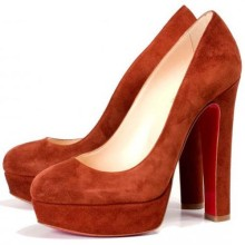 Christian Louboutin Bianca 140mm Platforms Brown