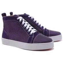 Christian Louboutin Louis Strass Sneakers Parme