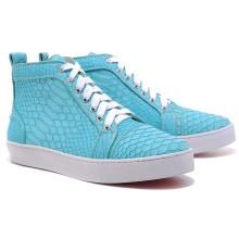 Christian Louboutin Louis Python Sneakers Blue