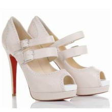 Christian Louboutin Luly 140mm Mary Jane Pumps White