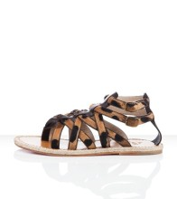 Christian Louboutin Hola nina Flat Sandals Leopard