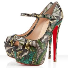 Christian Louboutin Lady Highness 160mm Mary Jane Pumps Green