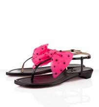 Christian Louboutin Vaudou Flat Sandals Black/Pink
