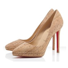 Christian Louboutin Pigalle Plato 120mm Pumps Natural