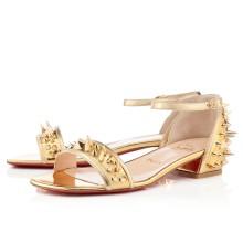 Christian Louboutin Druide Flat Sandals Gold