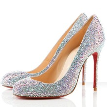 Christian Louboutin Fifi Strass 100mm Special Occasion Aurora Boreale