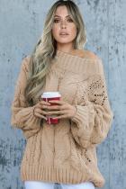 Khaki Chunky Oversized Pullover Sweater