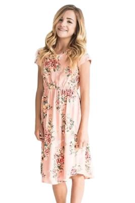 Little Girl Favorite Summer Floral Dress Pink