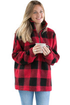 Red Buffalo Plaid Sherpa Pullover