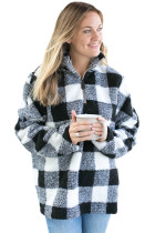White Buffalo Plaid Sherpa Pullover