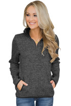 Charcoal Quarter Zip Pullover Sweatshirt