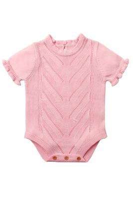 Pink Vintage Knit Short Sleeve Toddler Onesies