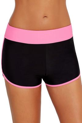 Contrast Pink Trim Swim Board Shorts