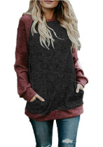 Batwing Sleevs Color Blocks Sweater