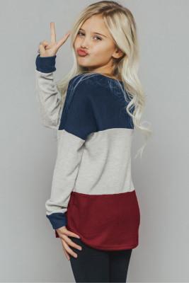 Blue The Callie Colorblock Sweater