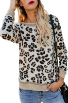 Off White Leopard Print Sweatshirt