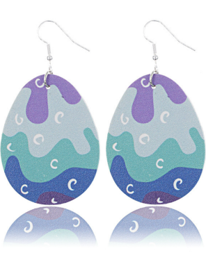 Purple Colorblock Easter's Day PU Ring