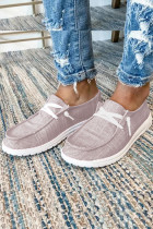 Pink Solid Shoes