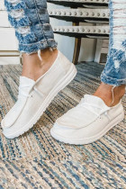 White Solid Shoes