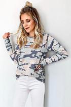 Green Camo Print Sweatshirt