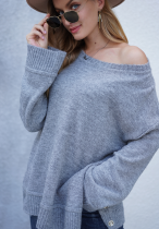 Solid Side Button Up Sweater