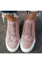 Pink Canvas Shoes with Zipper