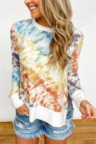 Orange Gradient Tie Dye Plus Size T-shirt