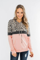 Pink Into the Jungle Color Block Hoodie