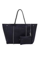 Black Fashion Neoprene Beach Bag