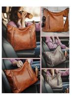 Brown Large Capacity Tote Bag