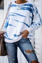 White Snow Tiger Tie Dye Pullover Sweatshirt
