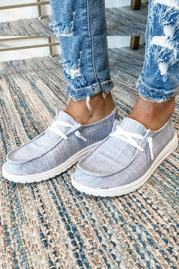 Grey Solid Shoes
