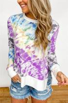 Purple Gradient Tie Dye Plus Size T-shirt