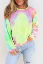 Multicolor Tie-dye Knit Sweatshirt