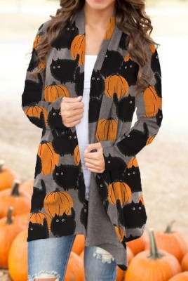 Halloween Pumpking Cat Cardigans
