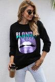 Bliondie Lip Graphee Sweatshirts