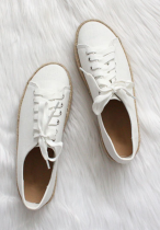 Solid White Sneakers