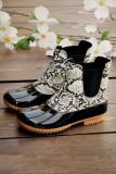 Snake Pattern Leopard Waterproof Boots