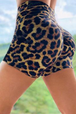 Leopard Print Booty Yoga Shorts