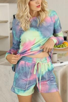 Tie Dye Lounge Wear Drawstring Set