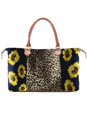 Sunflower Leopard Weekender Bag