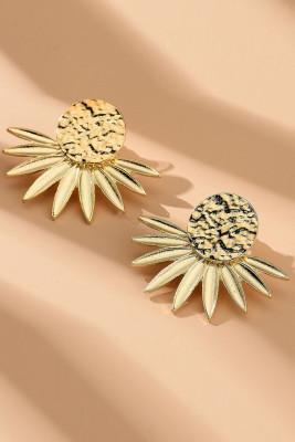 Golden Radiation Flower Earrings