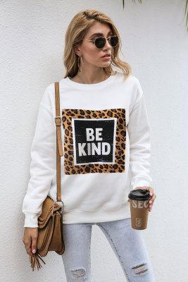 Leopard Be Kind Graphee Sweatshirts