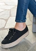 Solid Black Sneakers