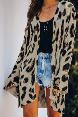 Lightweight Knit Leopard Cardigan