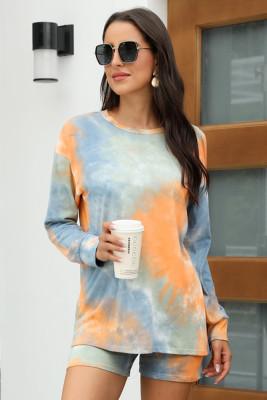Orange Tie Dye Pajamas Set