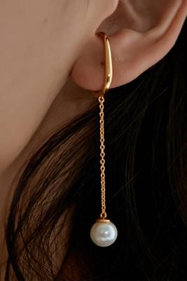 Pearl Pendant Dangle Earrings