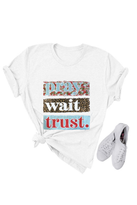 Pray Wait Trust Graphy Tee
