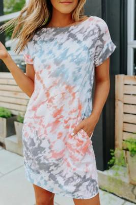 Fashion Tie-dye T-shirt Mini Dress