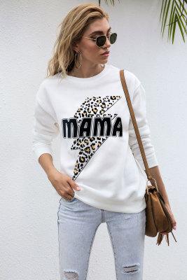 Mama Flash Leopard Graphee Sweatshirts